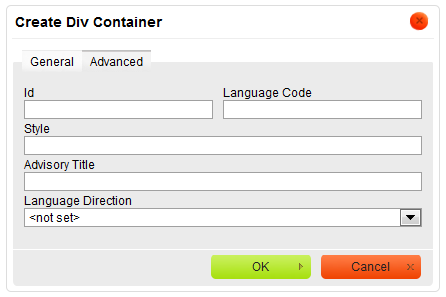 html how to create container div