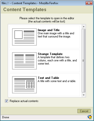 FCKeditor 2 x/Users Guide/Common Tasks/Templates - CKSource Docs