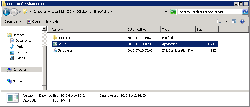 CKEditor for SharePoint/2010/Administrators Guide/Installation